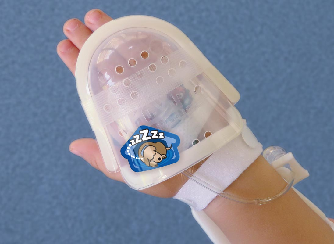 750LFP UltraDome Plus on Toddler's Hand