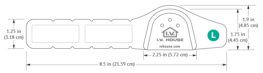 330L I.V. House UltraDressing with dimensions