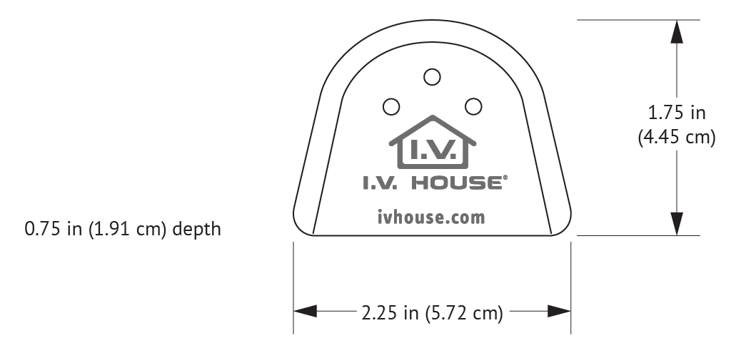 727SFP I.V. House UltraDome with dimensions