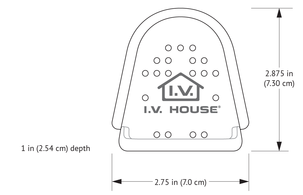 750LFP I.V. House UltraDome Plus with dimensions