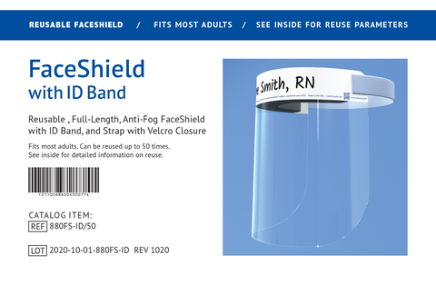 FaceShield with ID Band Package Insert